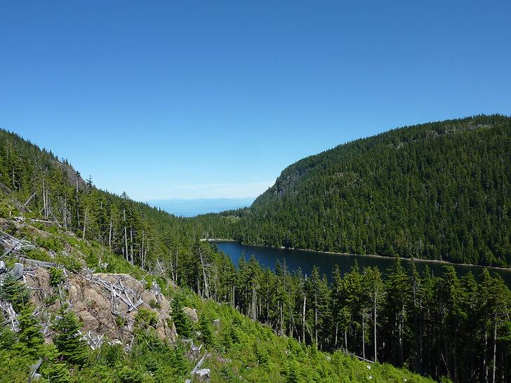 Tsable Lake camp   Beaufort Range SW of Courtenay   bikepacking Vancouver Island