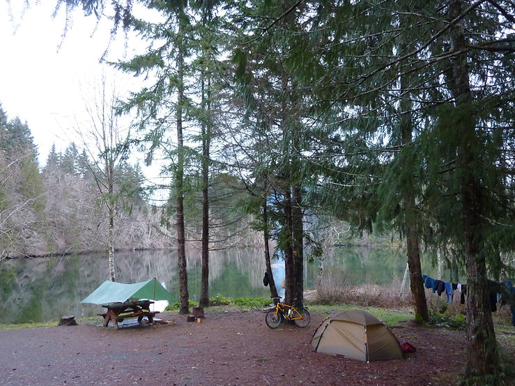 Strathcona Dam Rec Campground | west of Campbell River | cycle touring Vancouver Island