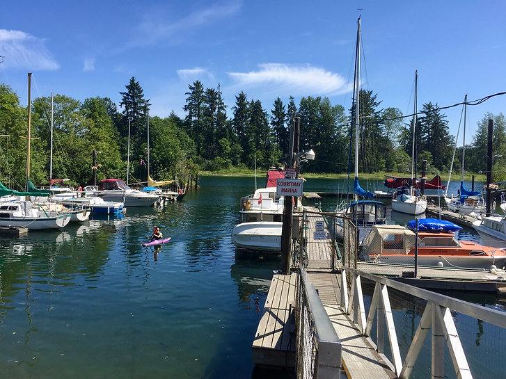 Seaside cycling trails in Courtenay | cycle touring Vancouver Island
