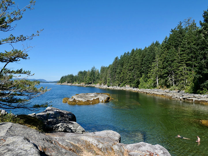 Saltery Bay Provincial Campground, Sunshine Coast, Saltery Bay, bike tour, swimming