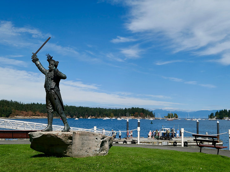 Nanaimo harbourside | dock for ferry to Newcastle Island | cycle touring Nanaimo harbour islands