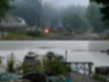 Mahatta River depot & docks   bikepacking to Side Bay   cycle touring north Vancouver Island