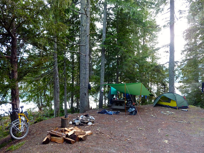 Willington Point Rec Camp | Upper Quinsam Lake | cycle touring Vancouver Island | Timberwest Logging Company