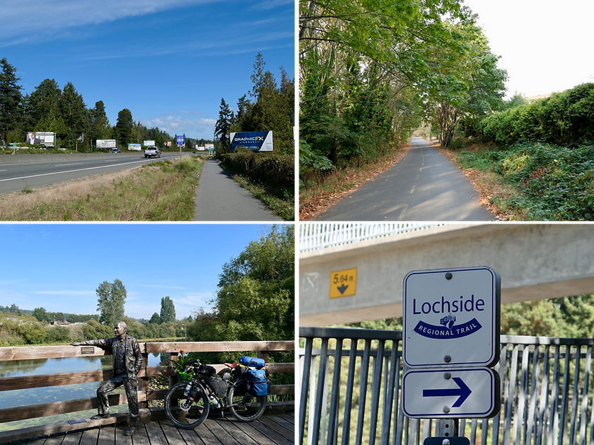 Lochside Regional Cycling Trail | cycling Victoria to Swartz Bay Ferry Terminal | cycling Saanich Peninsula