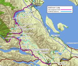 Port Alberni north to Courtenay