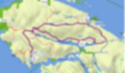 Fav ride route map (1 of 3) | bikepacking NW Vancouver Island | backroad cycle touring