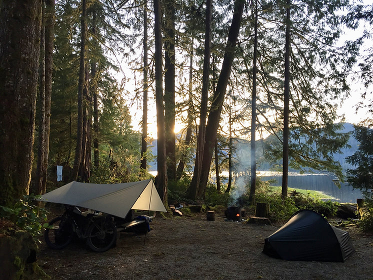 Cougar Creek Rec Camp | Tlupana Inlet west of Gold River | bikepacking Vancouver Island