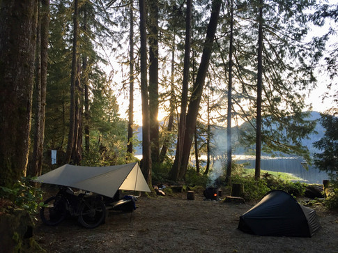 Dusk at Cougar Creek Rec Camp