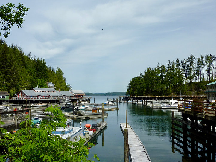 Telegraph Cove | cycle touring north Vancouver Island | SE of Port McNell