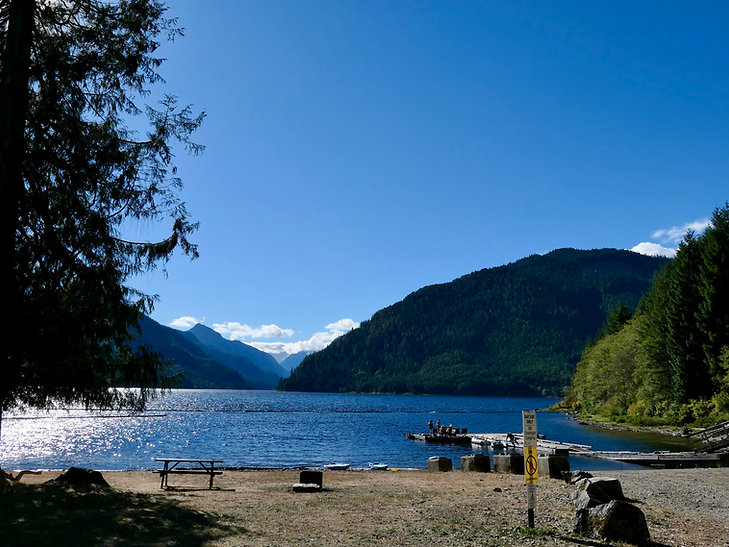 Muchalat Lake Rec Campground | bikepacking north of Gold River | cycle touring Vancouver Island