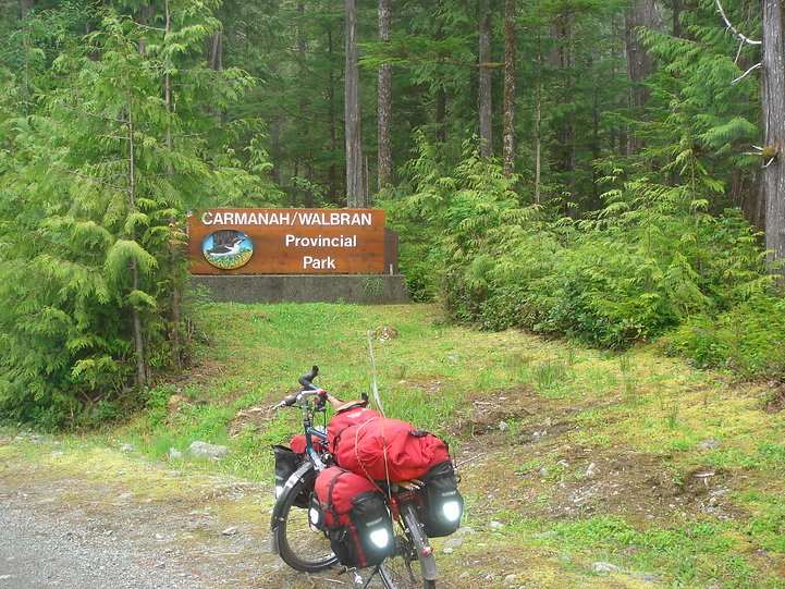 Carmanah Walbran Provincial Park | last giant old growth forests | cycle touring Vancouver Island