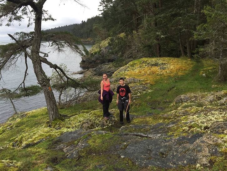 Hiking trails at Ruckle Park | Fav cycling campground | cycle touring Saltspring Island