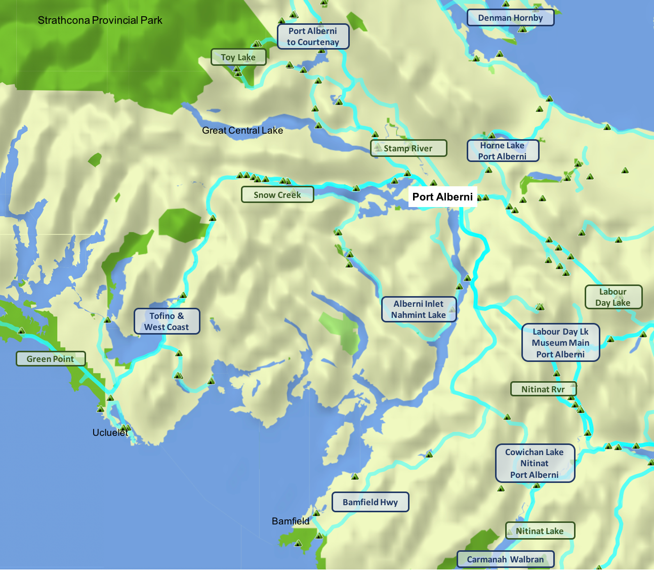 Port Alberni area - overview map