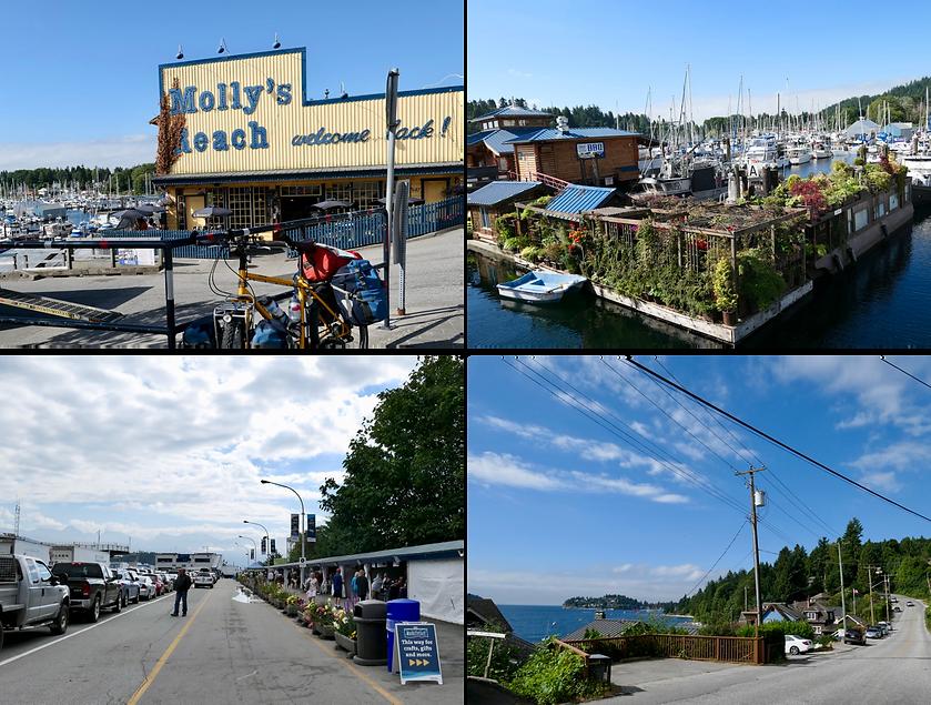 Gibson's Landing | Langdale ferry terminal | bike touring Sunshine Coast