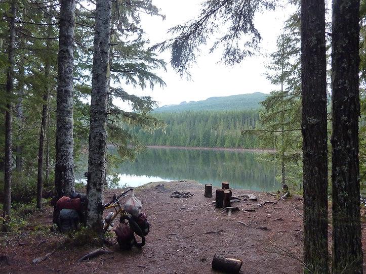 Regan Lake Campsite | bikepacking NW Courtenay Lakes | fav cycle tour