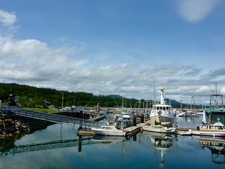 Port McNeill Marina | cycle touring north Vancouver Island | BC ferry terminal to Malcolm & Cormorant islands