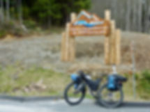 Turnoff to Port Alice from North Island Highway | cycle touring north Vancouver Island