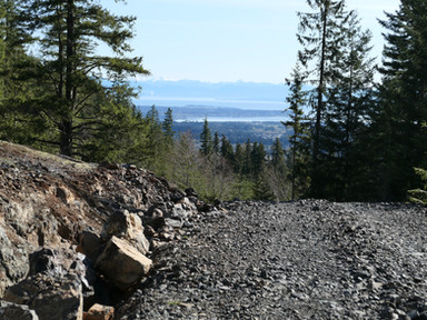 Climbing SW from Courtenay