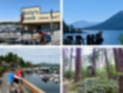 Sunshine Coast photo collage | cycle touring Sunshine Coast