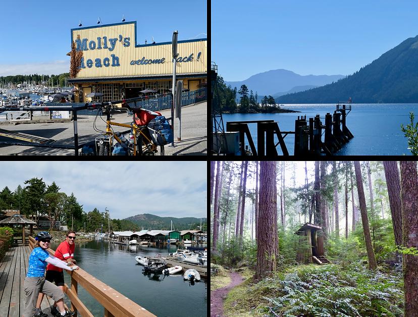 Sunshine Coast photo collage | cycle touring Sunshine Coast