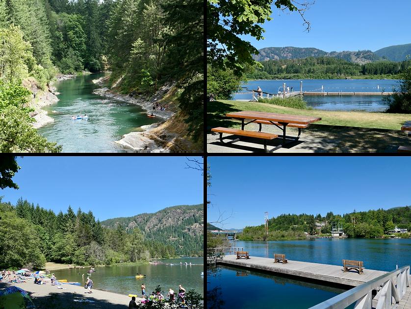 Swimming Cowichan Lake & Cowichan River    cycle touring Vancouver Island