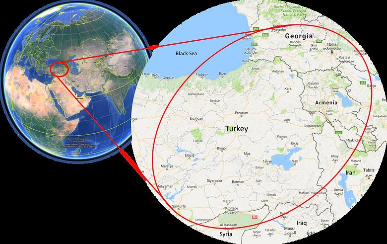 World location map | East Turkey & Georgia | cycle touring