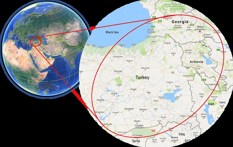world location map cycle touring east turkey georgia