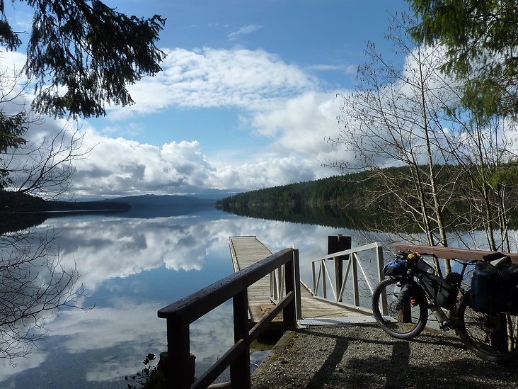 Loveland Bay Provincial Park | bikepacking west from Campbell River | cycle touring Vancouver Island