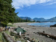 Side Bay, a favourite campground   west from Port Alice   bikepacking north Vancouver Island