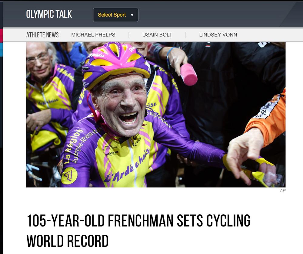 105 year old cyclist still kicking it
