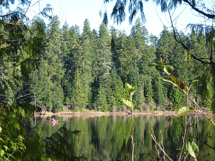 Echo Lake | south off Highway 28 , west of Campbell River | cycle touring Vancouver Island
