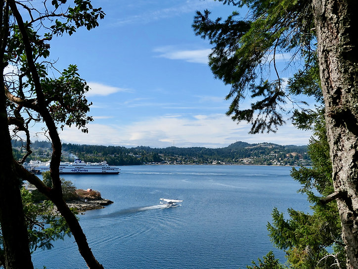 Departure Bay Harbour, Nanaimo | Newcastle Island trails | cycle touring Vancouver Island