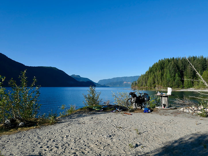 Olsen's Landing camp | bikepacking Theodosia