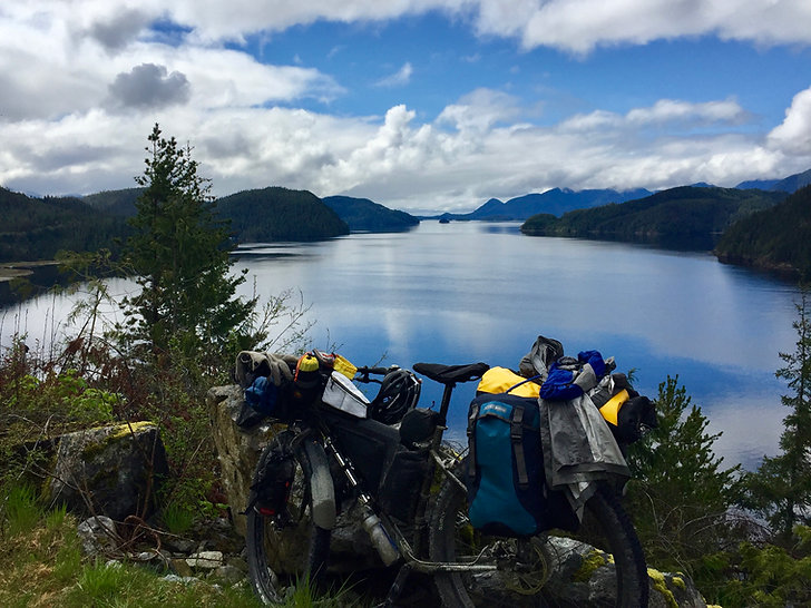 Tlupana Inlet, west of Gold River | Cougar Creek Rec Camp | cycle touring Vancouver Island
