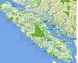 Honourable mention campgrounds - map