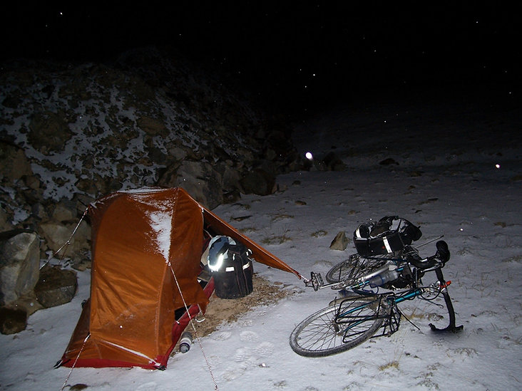 Arkel panniers on Karakorum Highway | Jeff Bock bike on Karakorum Highway