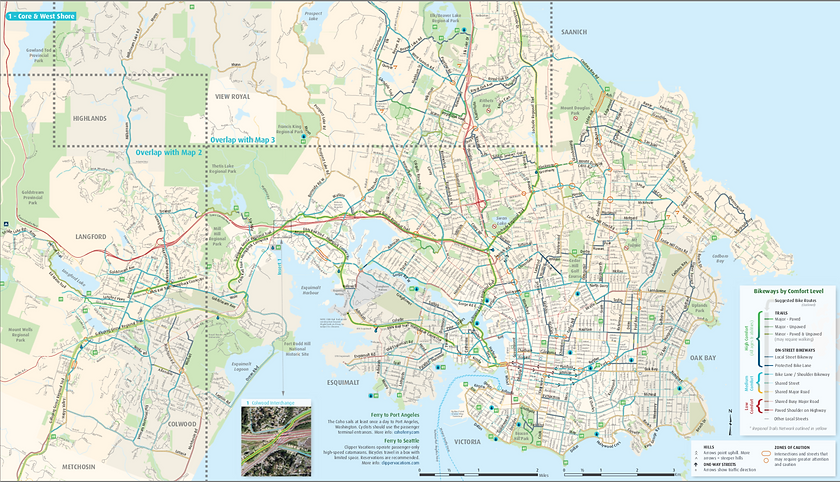 CRD Cycling route maps | Victoria cycle touring maps
