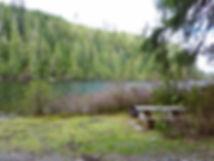 Kathleen Lake Rec Camp   east of Port Alice   bikepacking north Vancouver Island