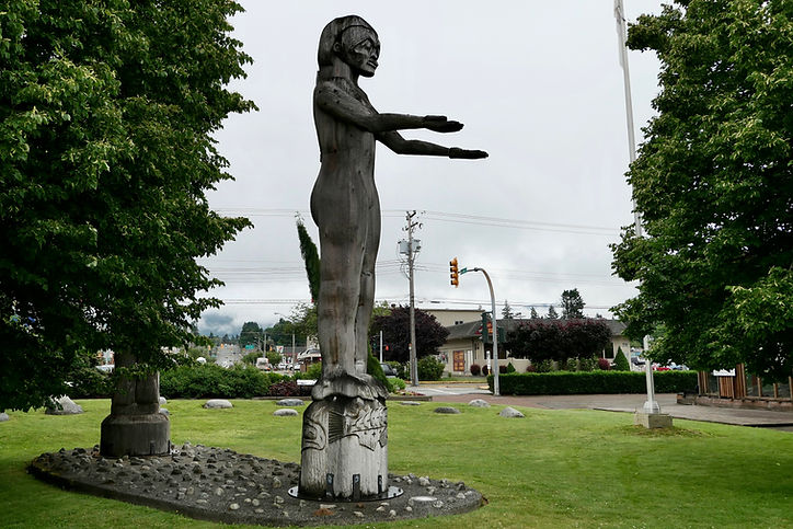 Victoria Quay Park, Port Alberni | start of Pacific Rim Highway | cycle touring Vancouver Island