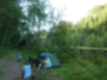 Wild camping Little Lost Lake   bikepacking NW of Courtenay   cycle touring Vancouver Island