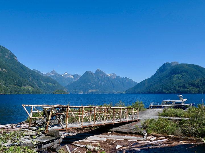 Olsen's Landing | bikepacking Powel Lake | bikepacking Theodosia