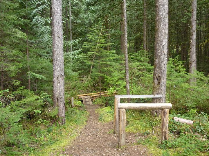 Windsor Lake Rec Camp | portage trail for canoe circuit | bikepacking north Sunshine Coast