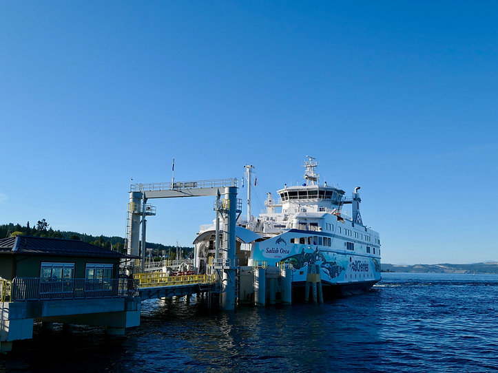 Westview ferry terminal, Powell River | bike touring north Sunshine Coast