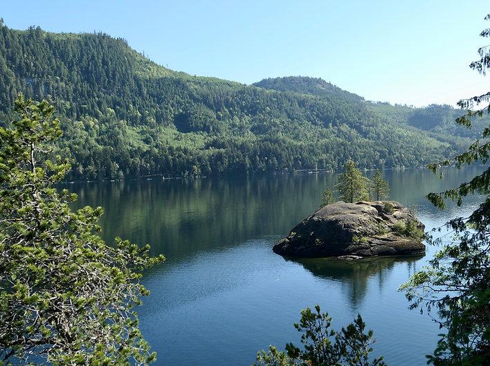 Cycle touring Horne Lake | bikepacking Horne Lake