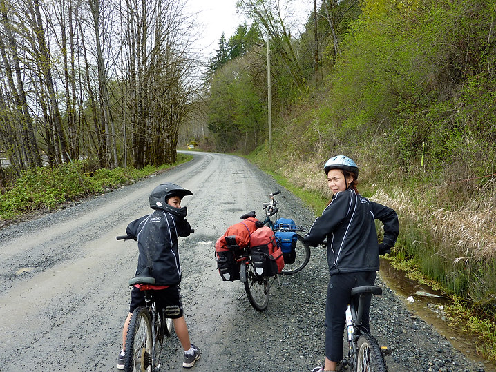 North shore of Cowichan Lake | west of Youbou | cycle touring Cowichan Lake