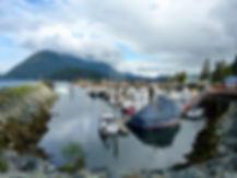 Kelsey Bay marina | bikepacking to Sayward | cycle touring north Vancouver Island