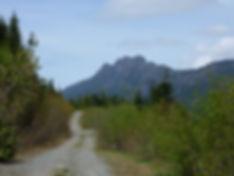 Backroad behind Peak Lake & Mount Moriarty, bikepacking NE of Port Alberni, Vancouver Island