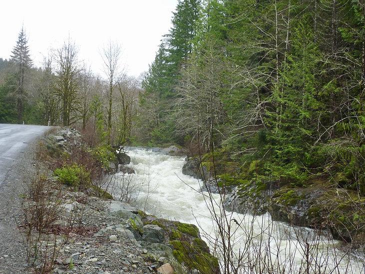 Harris Creek along Pacific Rim Highway | Port Renfrw north to Cowichan Lake | cycle touring