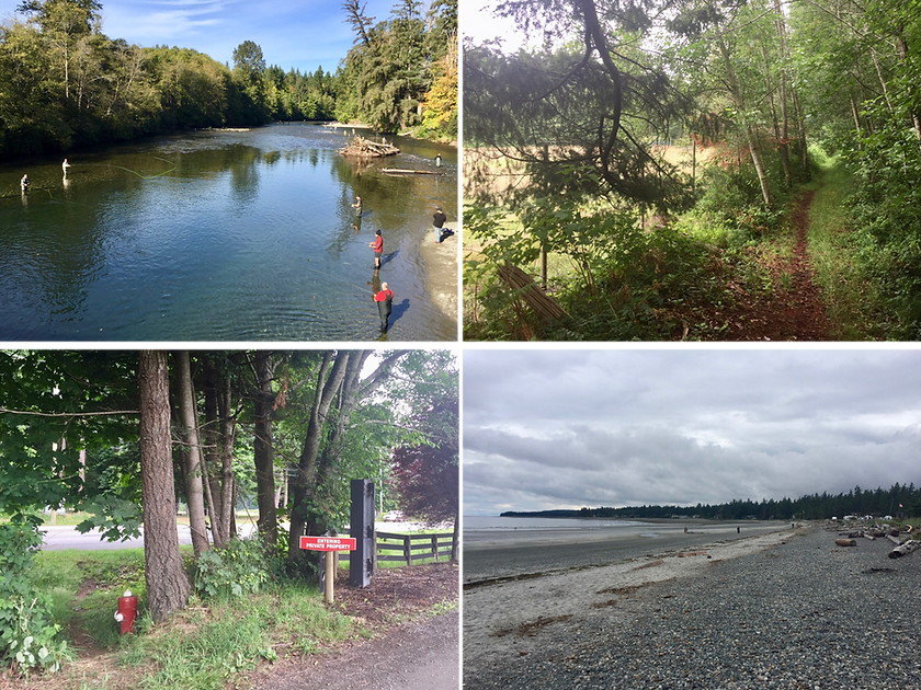 Cycle touring north from Courtenay | off-highway cycle touring routes