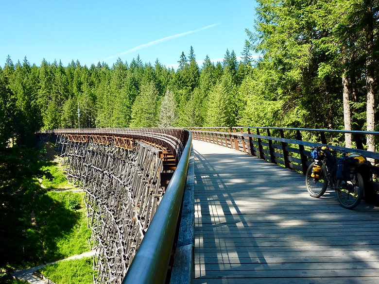 Kinsol Trestle, Cycle touring the Cowichan Valley Trail, Trans Canada Trail, Vancouver Island